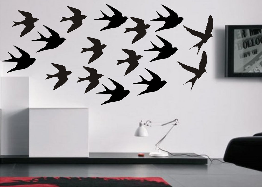 Flying Swallows Birds stickers