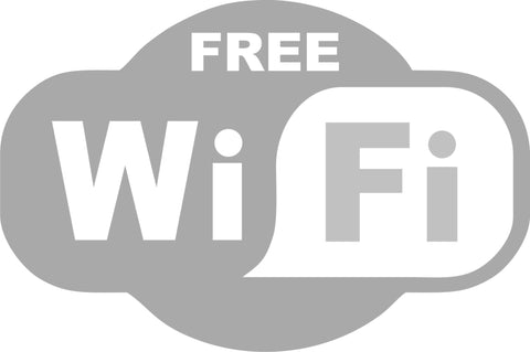 FREE Wi Fi shop sign sticker in Frosted Glass effect vinyl