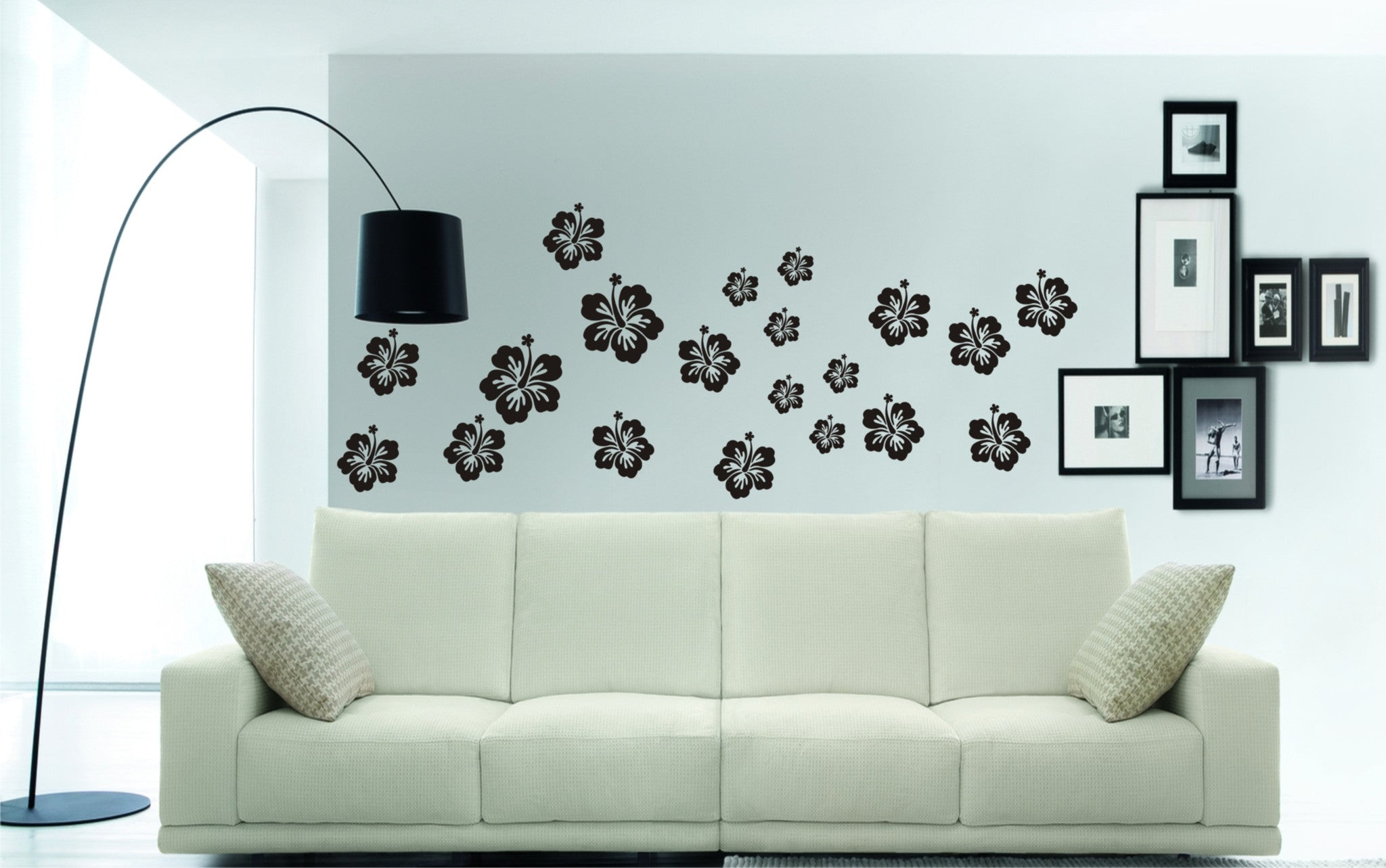Hibiscus flower stickers great for cars and even walls wall art shop hibiscus flower vinyl stickers izmirmasajfo