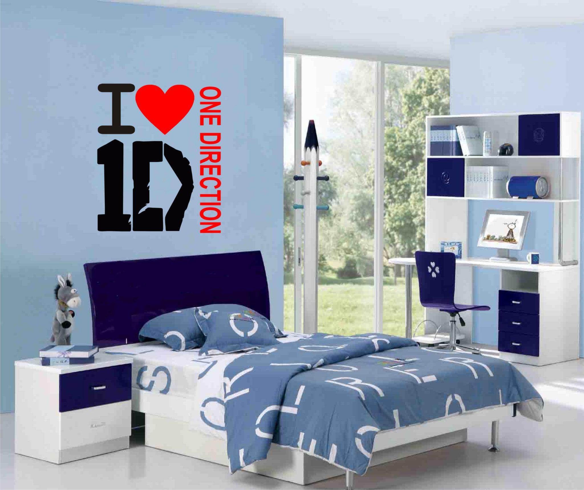 One Direction Wall Art Sticker Great Decal For Any Room Wall Art Shop