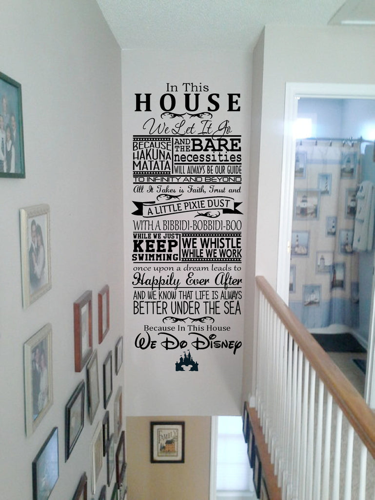 in this house disney wall art