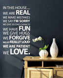In This House Wall Art Sticker