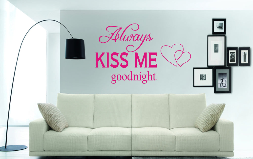 always kiss me goodnight wall art sticker