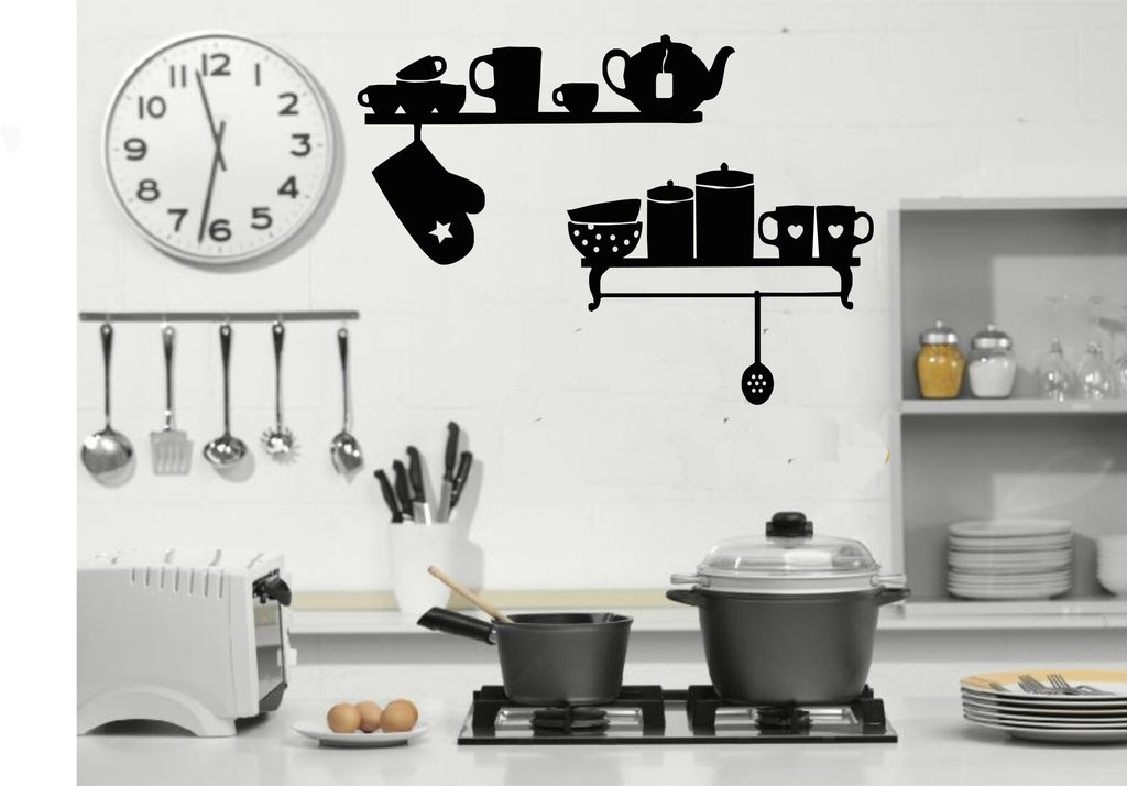 kitchen utensils wall art stickers