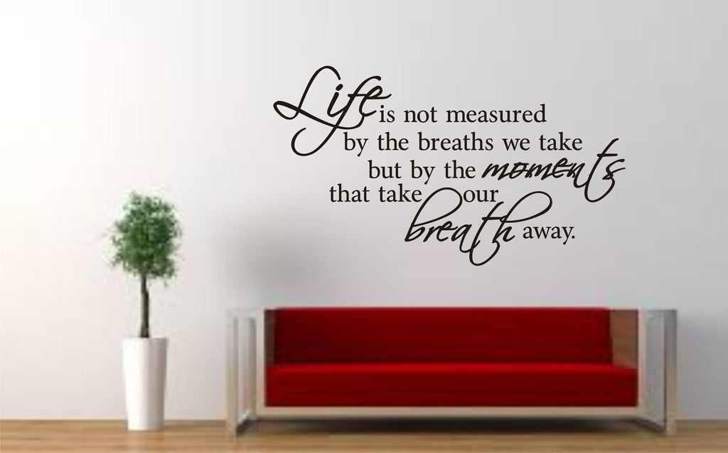 life is not meaured wall art quote