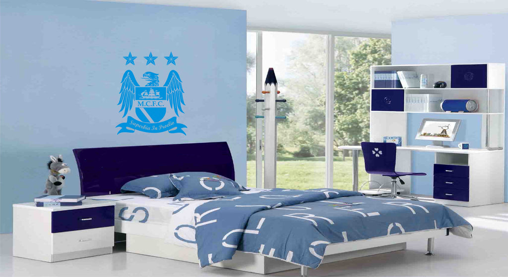 MCFC Badge Wall Art Sticker