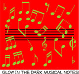 glow in the dark musical notes