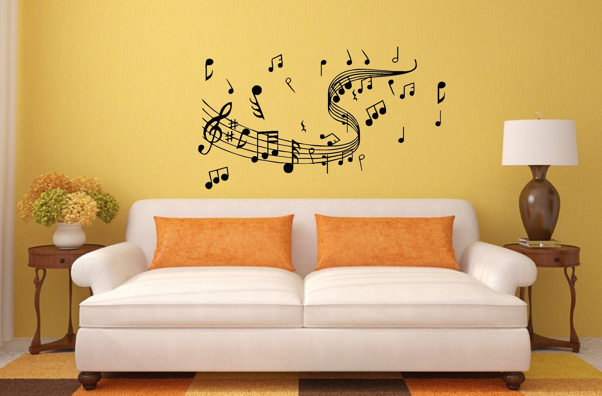 Musical Notes Wall Art Sticker, Decal, great for the musicians wall ...