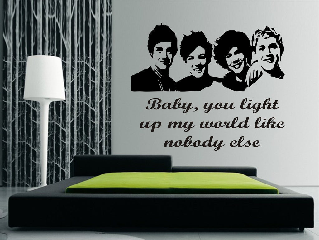 one direction wall art sticker