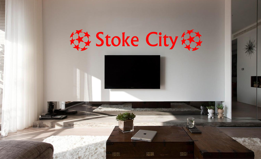 Stoke City FC Football Wall Art Sticker