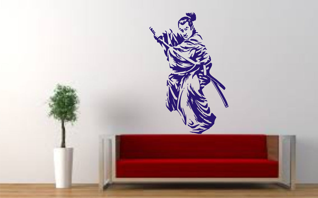 Samurai Warrior Wall Art Sticker, stunning design – Wall Art Shop