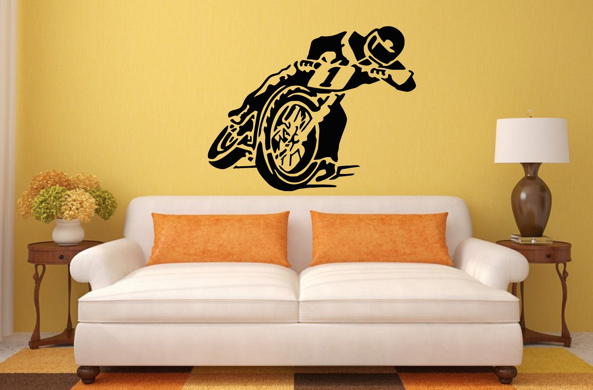 Speedway Bike Wall Art Sticker, Decal, Mural – Wall Art Shop