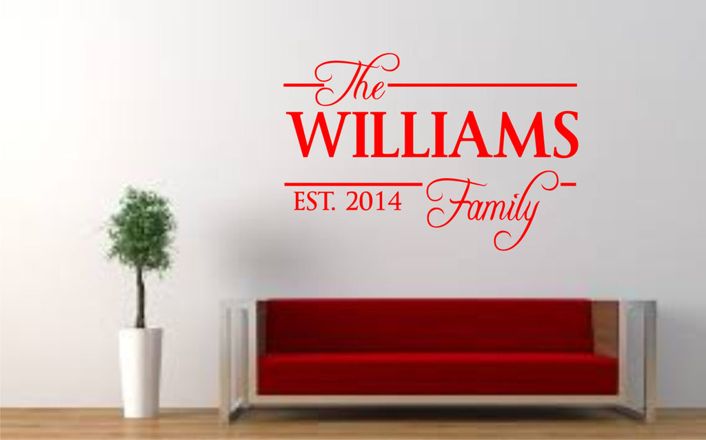 "Personalised ""The Family"" Wall Art Quote"