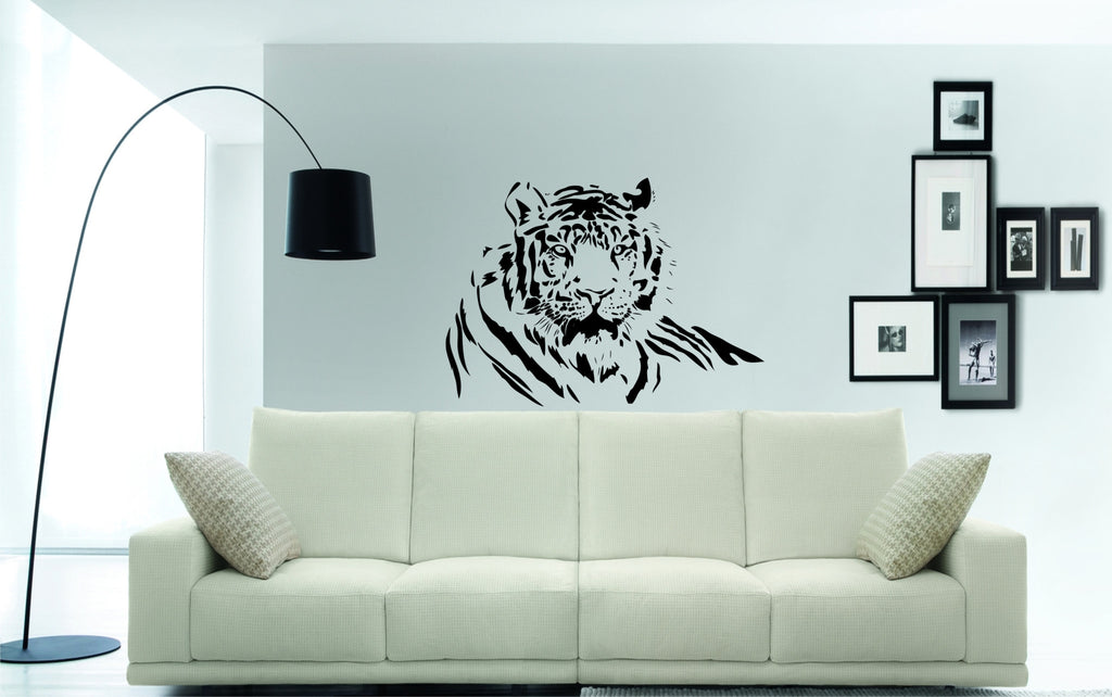 Tigers head wall art sticker