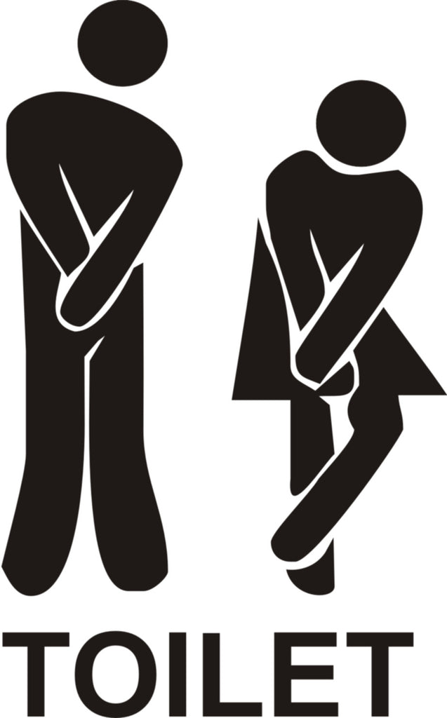 funny toilet entrance sign stickers