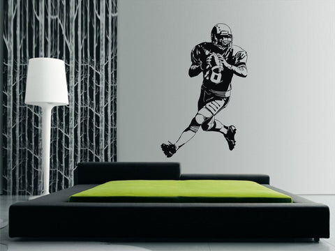 American (US) Football Player Wall Art Sticker