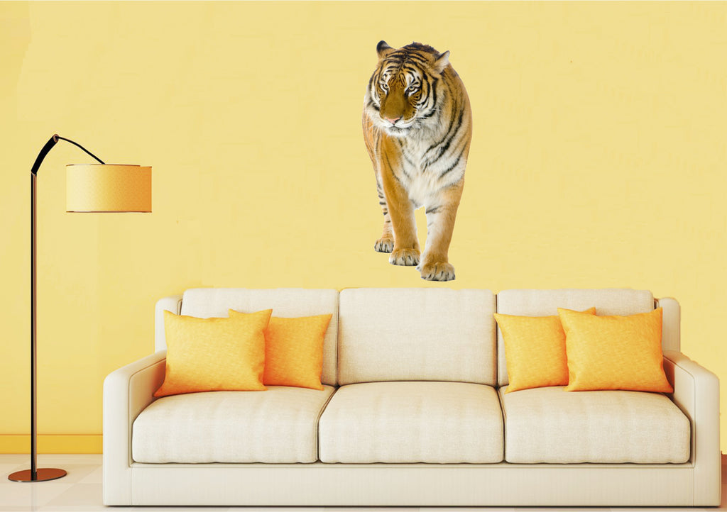 walking tiger wall sticker
