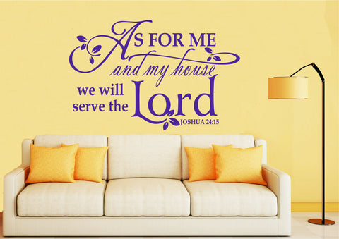As for me and my house we will serve the lord Wall Art Sticker