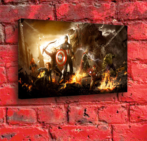 Avengers - A3 Boxed Canvas Print
