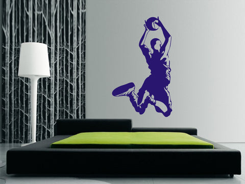 Basketball Player Leaping