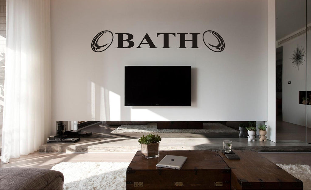 bath rugby wall art sticker