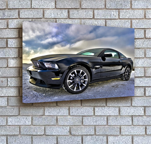 Black Dodge Viper - A3 Boxed Canvas Print