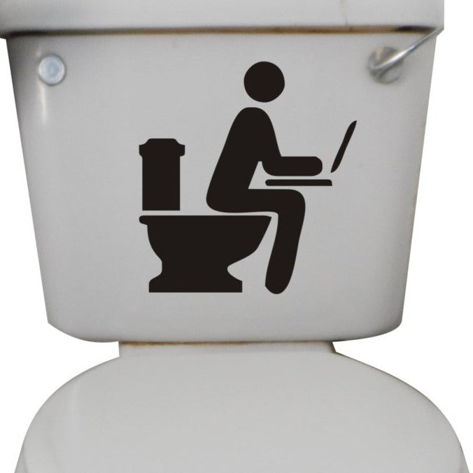 Bathroom Blogger Funny Toilet Sticker