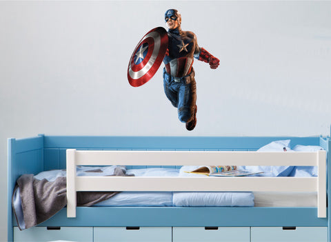 Captain America (Full Colour Wall Sticker)