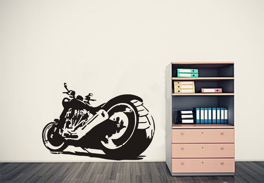 Chopper Motorbike Wall Art Decal