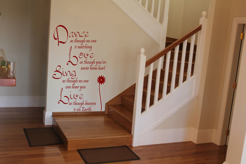 dance love sing live wall art quote