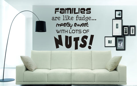 Families are like fudge, mostly sweet, with lots of NUTS!