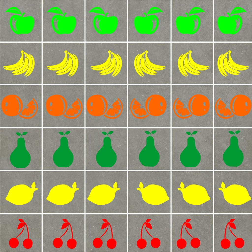FRUIT TILE STICKERS (10cm average size)