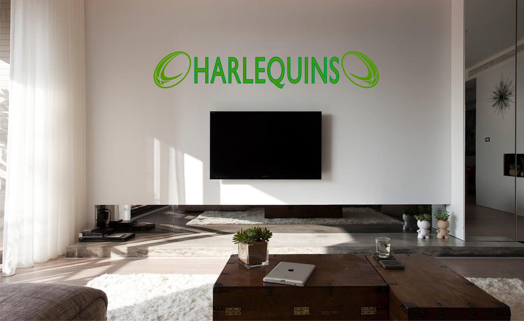 harlequins rugby wall art sticker