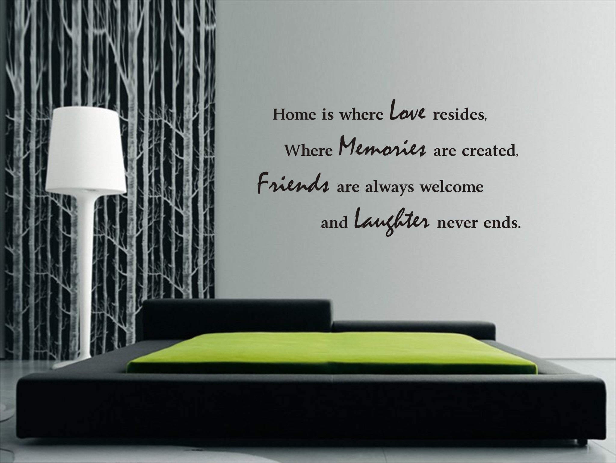 Home Is Where Love Resides...wall Art Sticker,great Quote