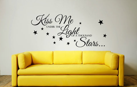 Kiss Me Under The Light of a Thousand Stars Wall Art Quote