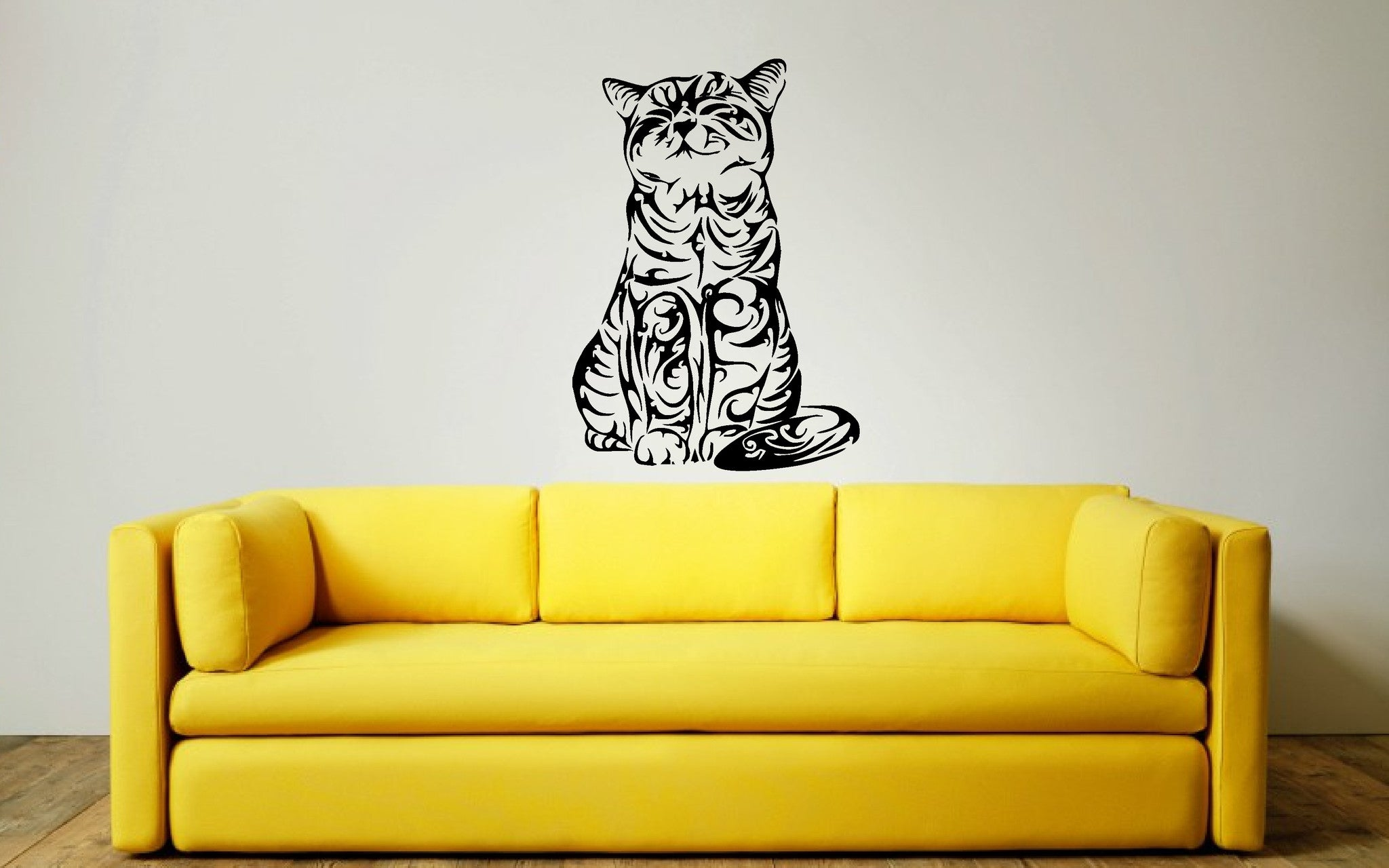 Large Tribal Cat Wall Art Sticker,Decal, Great on the cat lovers ...