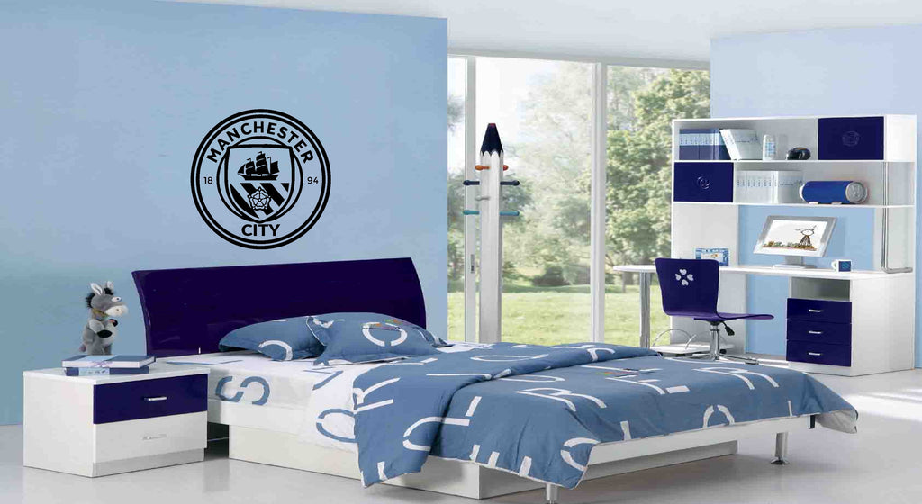 Manchester City Football Club Badge Wall Sticker (55 x 55cms)