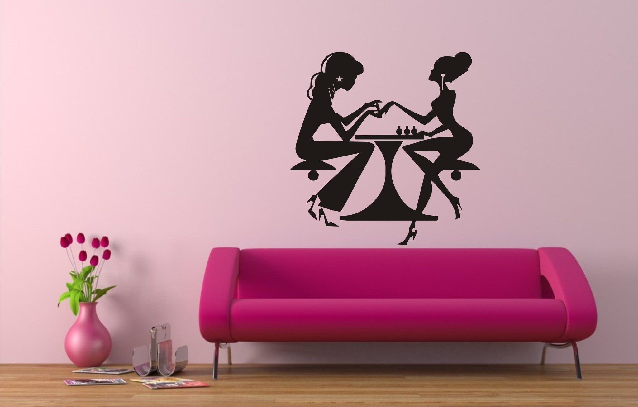 Nails pedicure salon wall art sticker stunning decals for Spa wall decor