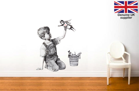 Banksy NHS Wall Art Sticker - Game Changer