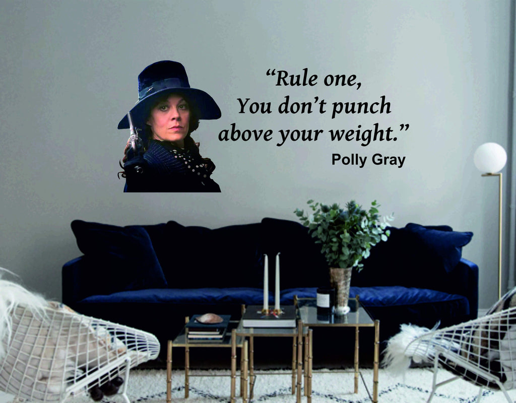 Polly Gray Wall Art Quote