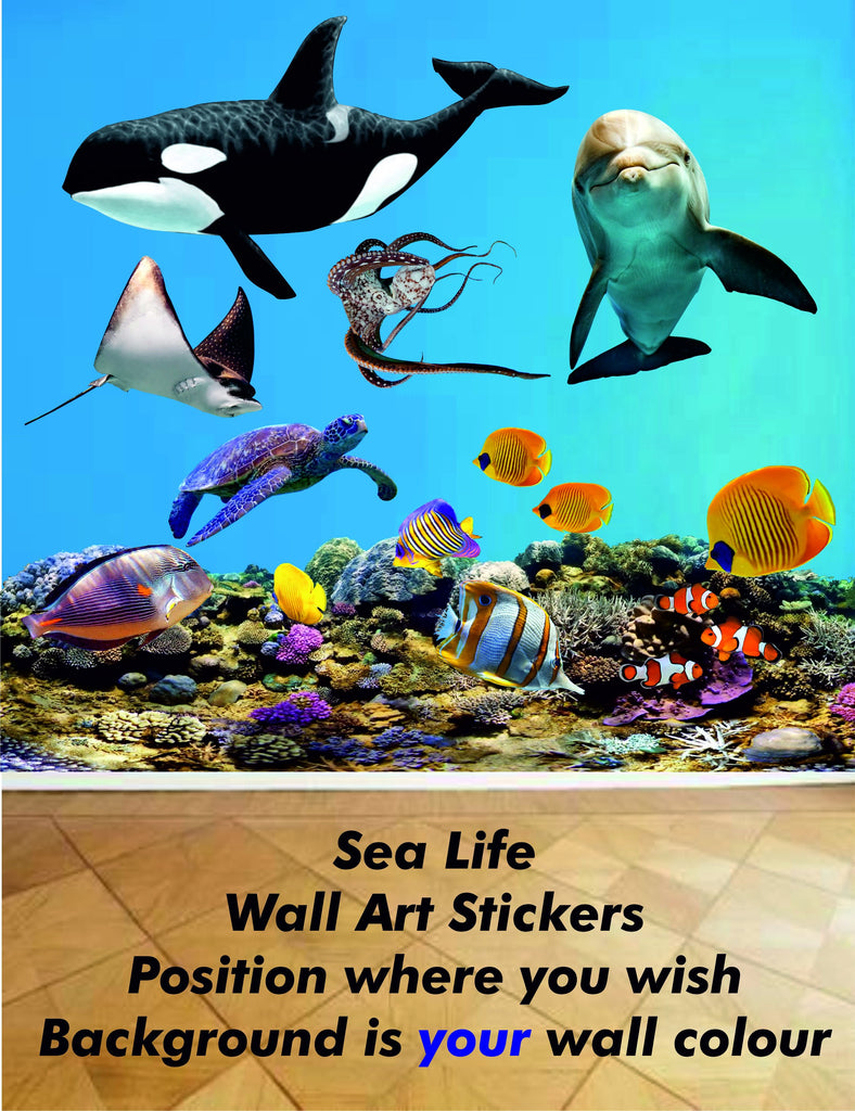 sea life wall art stickers