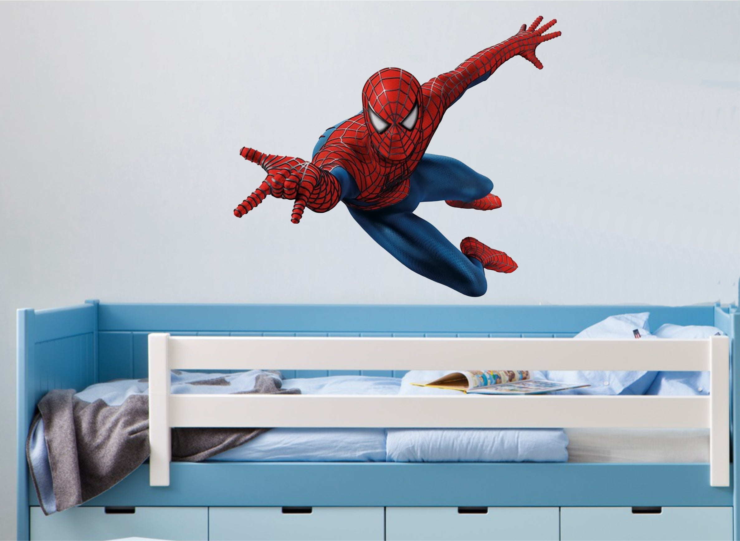 Spiderman Wall Art Sticker In Full Colour 5 X Great Sizes Wall