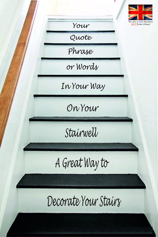 Design Your Own Stair Stickers