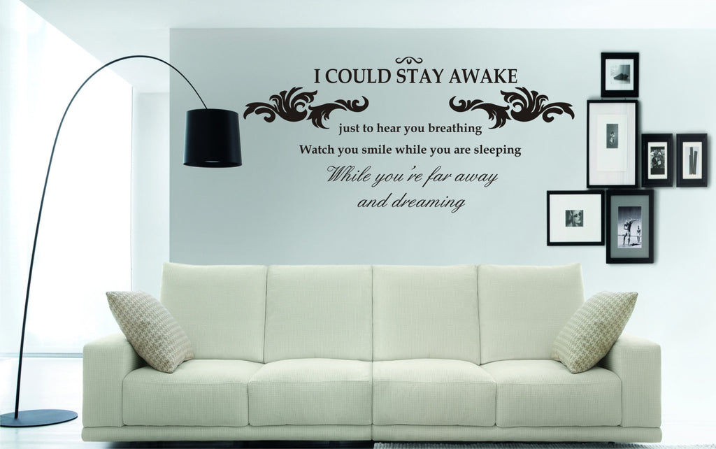 if i could stay awake wall art sticker