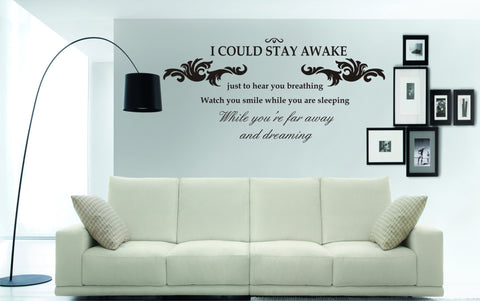If I Could Stay Awake...lyrics by Aerosmith (110 x 52cms)