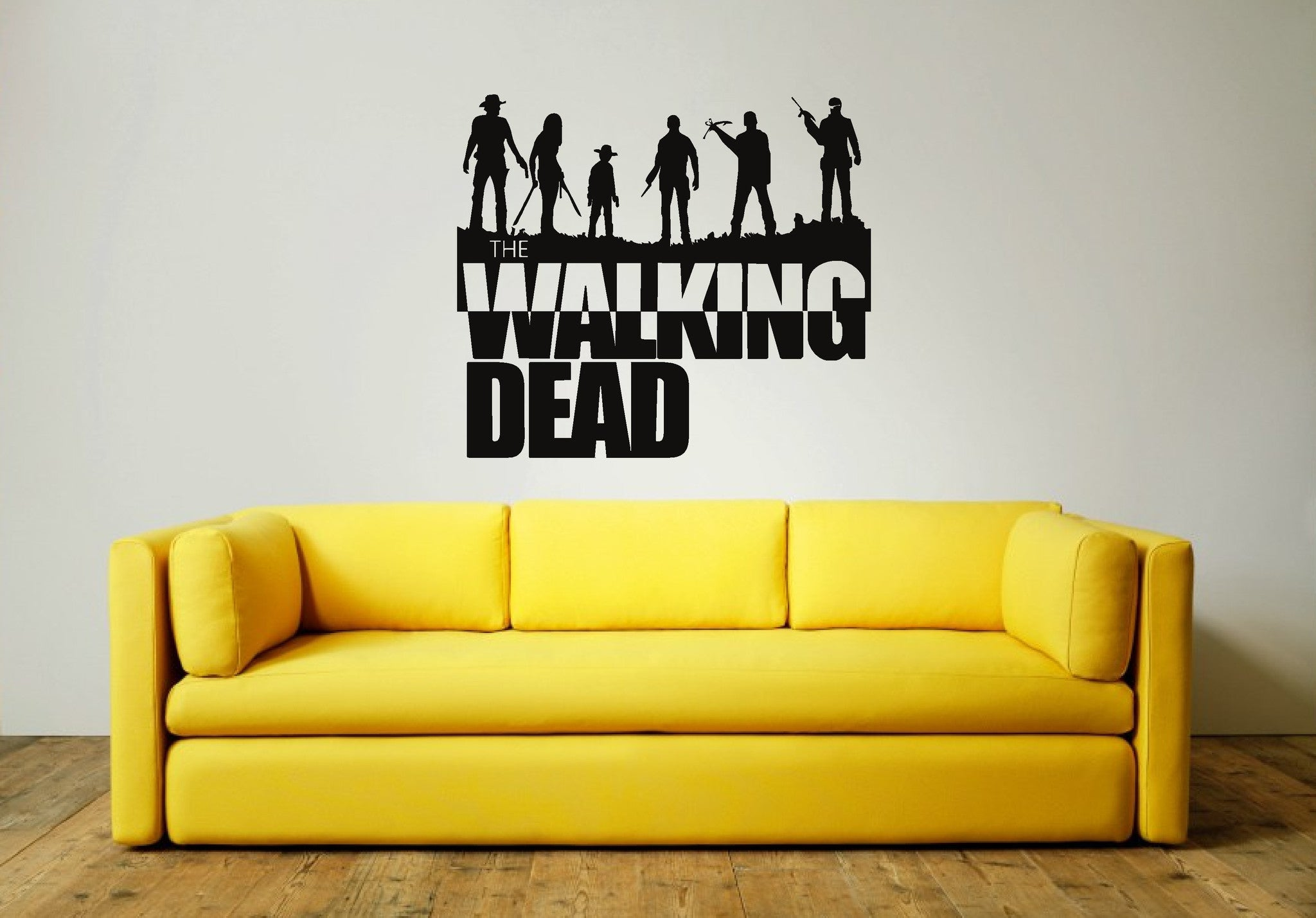 WALKING DEAD GROUP Wall Art Sticker (includes text) – Wall Art Shop