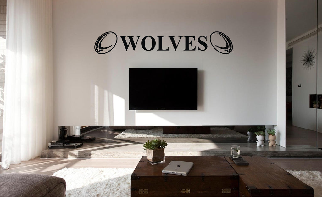 Warrington Wolves Rugby Wall Art Sticker