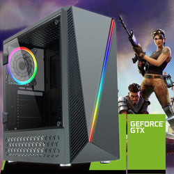 NEW!! SPO Intel Core i7 Gaming PC 2600 RGB Case 8GB Memory GTX 1650 AC139
