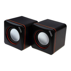 Mini Cube Stereo Speakers USB for PC 3W RMS