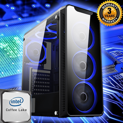 NEW!! BLAZE COFFEE LAKE GAMING PC 1TB i3 i5 i7 RTX 2070 GTX 1060 1050 240 SSD